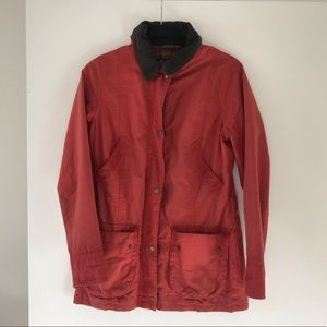 Barbour Burnt Orange Fitted Jacket, Womens Size 8